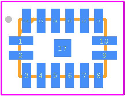 PCB footprint for Bloggs Bits testQFP16 - Quad Flat Packages