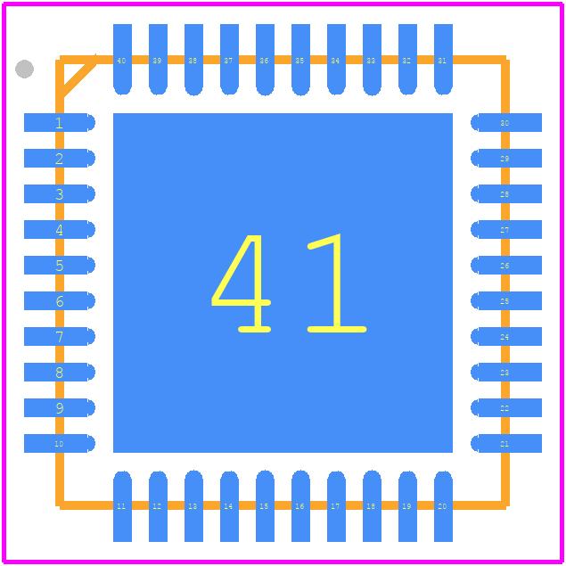 DA14585-00000AT2 - Dialog Semiconductor PCB footprint - Quad Flat No-Lead - 40 DOFU QFN 5x5