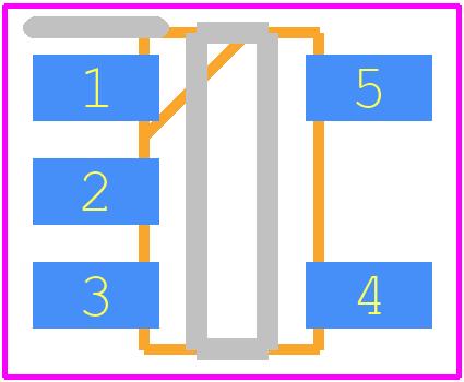 Si7210-B-00-IVR - Silicon Labs PCB footprint - SOT23 (5-Pin) - SOT23-5 5-Pin