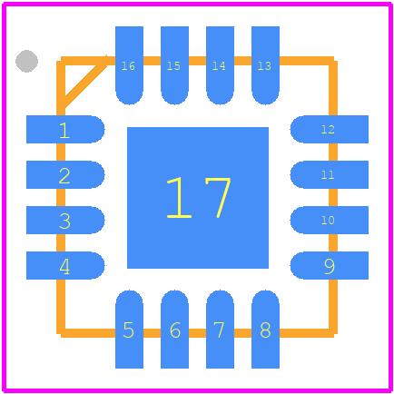 LTC6400CUD-26#PBF - Linear Technology PCB footprint - Quad Flat No-Lead - UD(QFN)