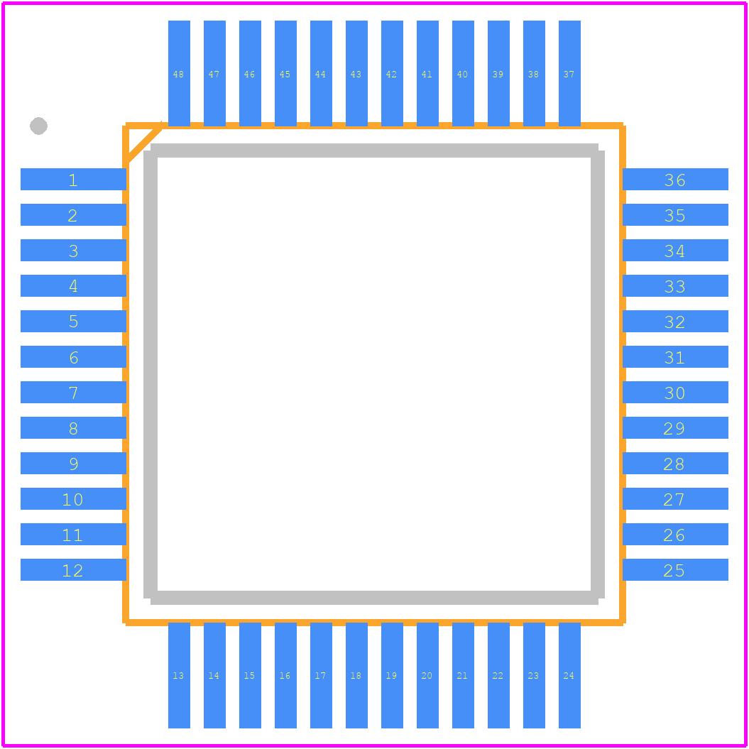 CM6206 - cmedia PCB footprint - Quad Flat Packages - LQFP48