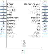 LTC3866EFE#PBF - Linear Technology - PCB symbol