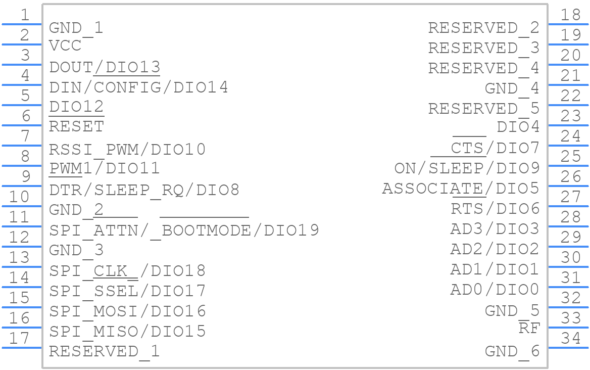 Xb3 24z8um J Digi International Pcb Footprint Symbol Download