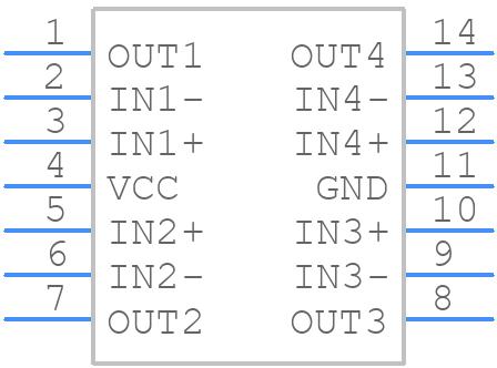 LM324N - Fairchild Semiconductor - PCB symbol