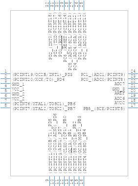 ATMEGA328-AU - Microchip - PCB symbol