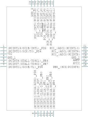 ATMEGA328-MMH - Microchip - PCB symbol