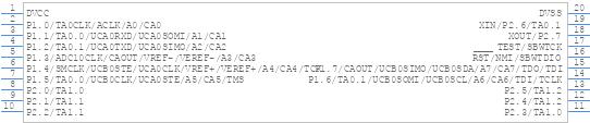 MSP430G2553IN20 - Texas Instruments - PCB symbol