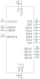 FT231XS-R - FTDI Chip - PCB symbol