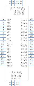 TS3DV642A0RUAR - Texas Instruments - PCB symbol