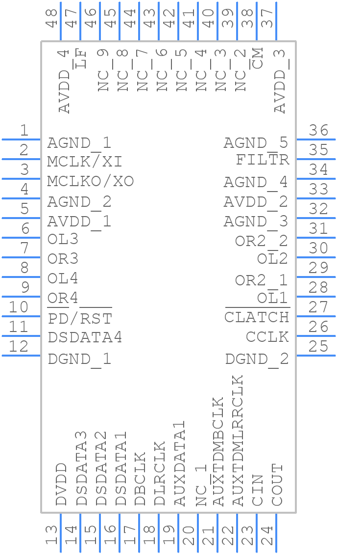 AD1934YSTZ - Analog Devices - PCB symbol