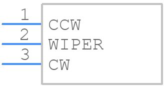 3290W-1-502 - Bourns - PCB symbol