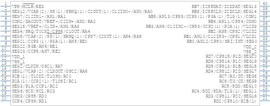 Pic16lf1937 Ip Microchip Pcb Footprint Symbol Download