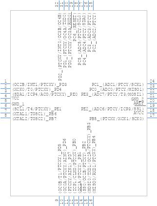 ATMEGA328PB-ANR - Microchip - PCB symbol