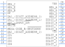 Icm7228cipiz Intersil Pcb Footprint Symbol Download