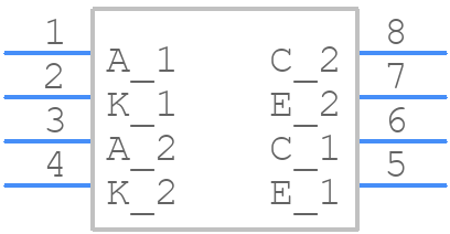 TLP521-2XSM - Isocom - PCB symbol