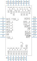 SLB9670VQ12FW641XUMA1 - Infineon - PCB symbol