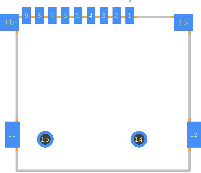 L-KLS1-TF-003-H1 85-R - KLS Electronic - PCB Footprint