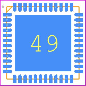 EFR32BG13P632F512IM48-CR - Silicon Labs PCB footprint - Quad Flat No-Lead - QFN48_5