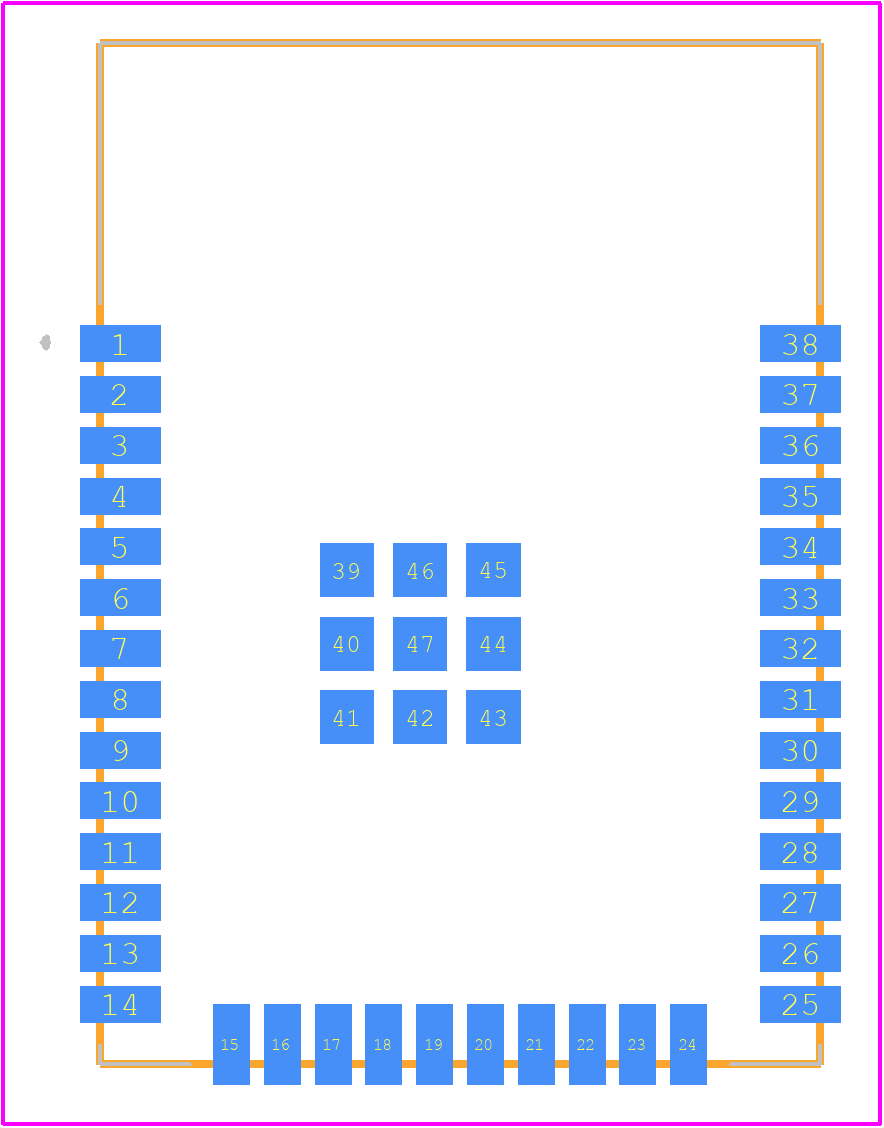 ESP32-WROOM-32U (4MB) - Espressif Systems PCB footprint - Other - ESP32-WROOM-32U (4MB)-1