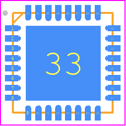 ADE9153AACPZ - Analog Devices PCB footprint - Quad Flat No-Lead - LFCSP-WQ CP-32-12