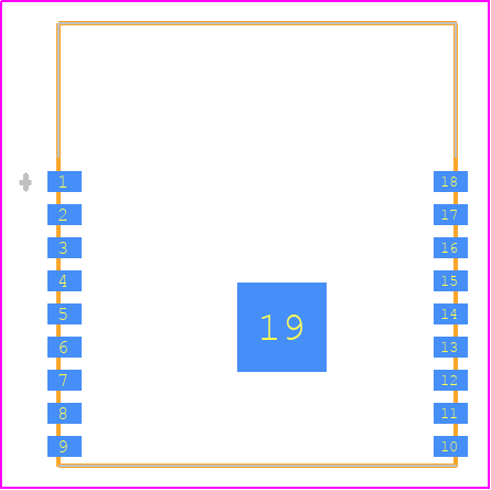PCB Footprint for ESP-WROOM-02 (4MB)