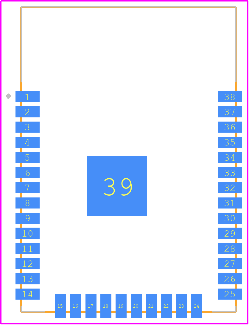 ESP32-WROOM-32D - Espressif PCB footprint - Other - ESP32-WROOM-32D-1