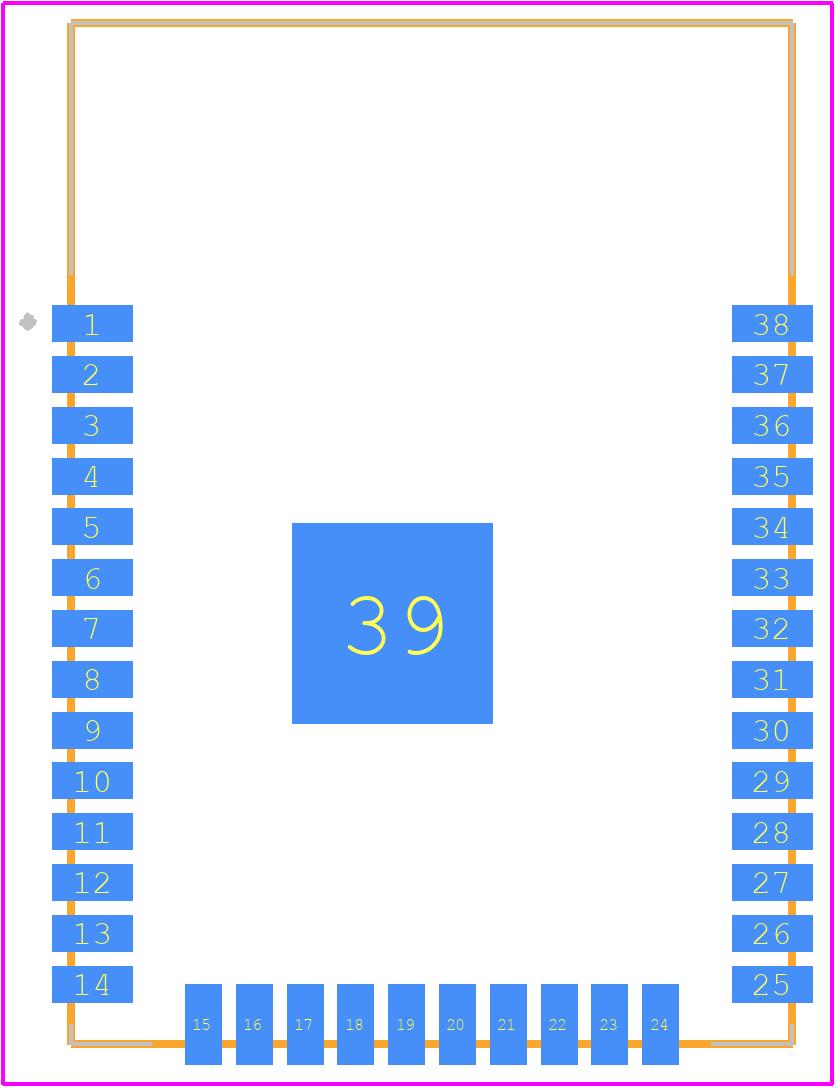 ESP32-WROOM-32D (8MB) - Espressif PCB footprint - Other - ESP32-WROOM-32D-1