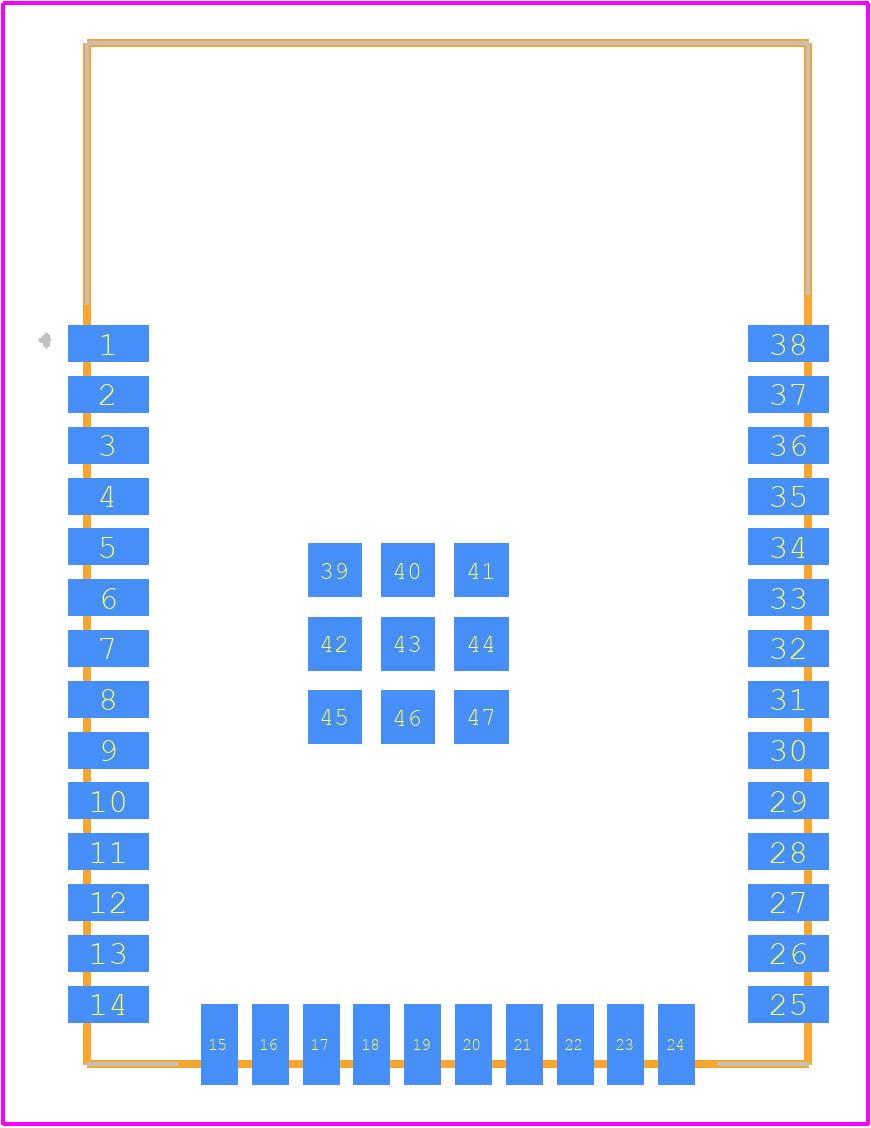 ESP32-WROOM-32 (16MB) - Espressif Systems PCB footprint - Other - ESP32-WROOM-32 (16MB)-3