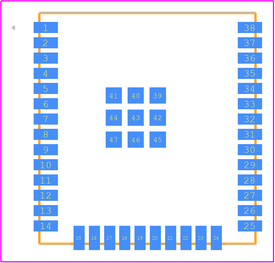 ESP32-WROOM-32U (8MB) - Espressif PCB footprint - Other - ESP32-WROOM-32U (8MB)
