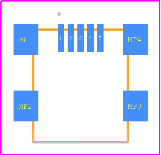 10033526-N3222MLF - Amphenol PCB footprint - Other - 10033526-N3222MLF-1
