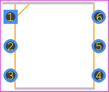 4N25 - Vishay PCB footprint - Dual-In-Line Packages - 14771_2 DIP-6