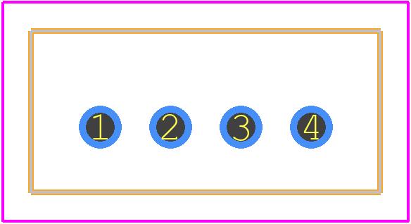 B4B-XH-A(LF)(SN) - JST Sales America PCB footprint - Other - B4B-XH-A(LF)(SN)-3