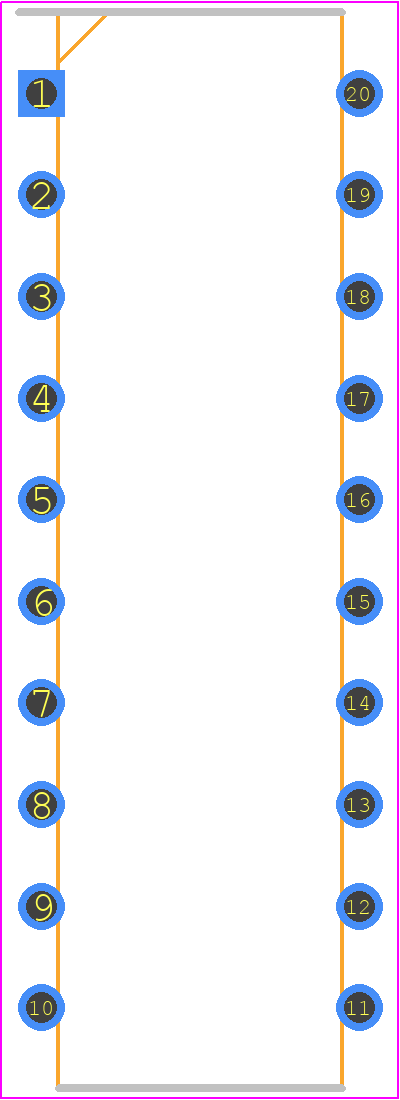 PIC18F14K22-I/P - Microchip PCB footprint - Other - DIP254P762X533-20