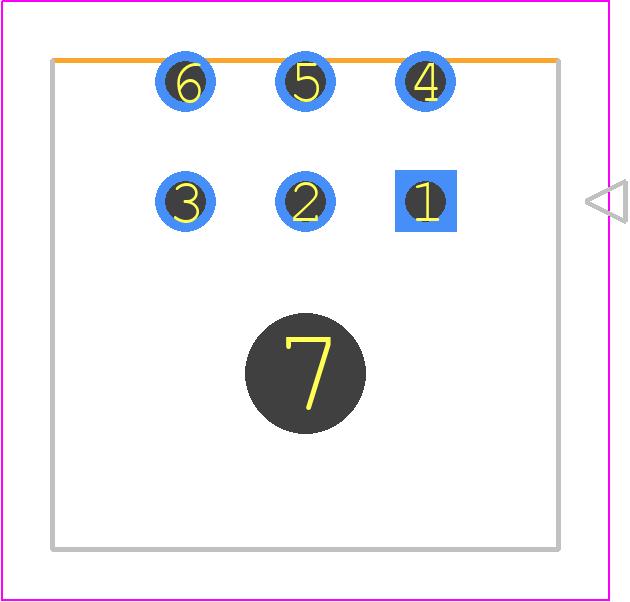43045-0600 - Molex PCB footprint - Other - 43045-0600
