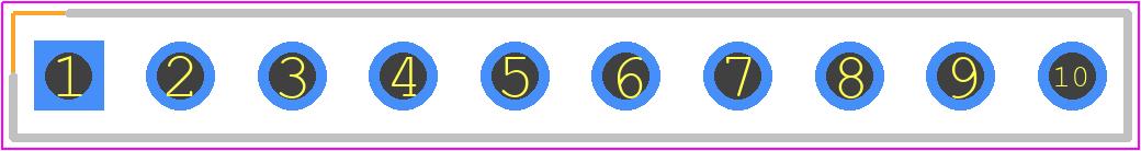 22-03-2101 - Molex PCB footprint - Header, Vertical - 22-03-2101