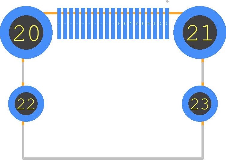 47151-0001 - Molex PCB footprint - Other - 47151-0001