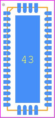 TS3DV642A0RUAR - Texas Instruments PCB footprint - Quad Flat No-Lead - RUA (R-PWQFN-N42)_2