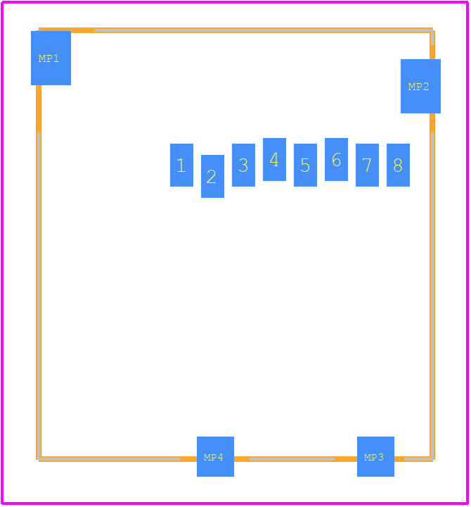 47334-0001 - Molex PCB footprint - Other - 47334-0001-2