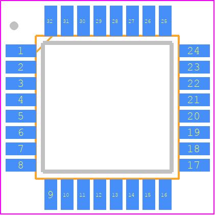 ATMEGA8A-AU - Microchip PCB footprint - Quad Flat Packages - TQFP 32A