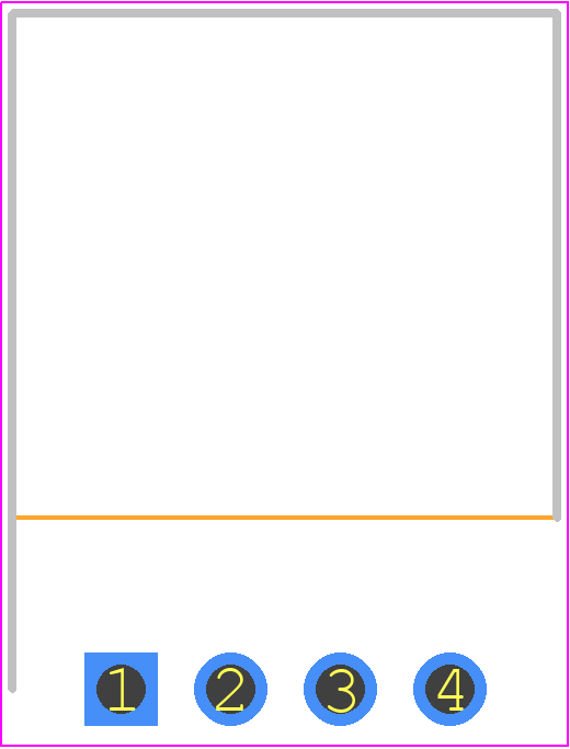 S4B-XH-A(LF)(SN) - JST (JAPAN SOLDERLESS TERMINALS) PCB footprint - Header, Shrouded - S4B-XH-A