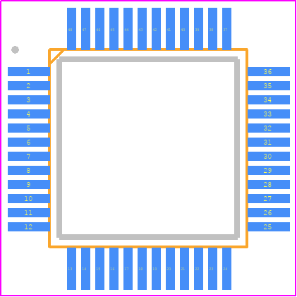 ATSAMD21G18A-AU - Microchip PCB footprint - Quad Flat Packages - Quad Flat Packages - TQFP 48_1