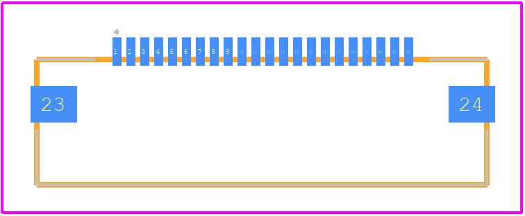 54548-2271 - Molex PCB footprint - Other - 54548-2271