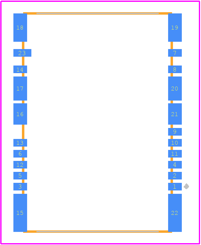 104239-1430 - Molex PCB footprint - Other - 104239-1430