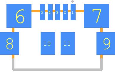 ZX62M-B-5P(30) - Hirose PCB footprint - Other - ZX62M-B-5P(30)