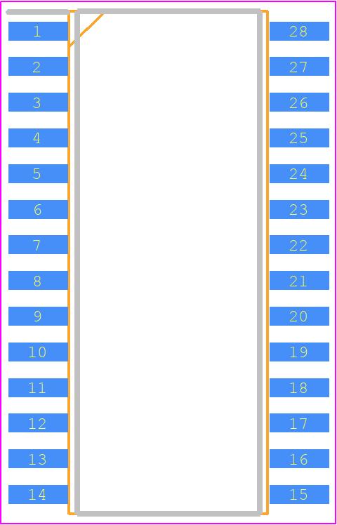HT16K33-28SOP - Holtek PCB footprint - Small Outline Packages - HT16K33