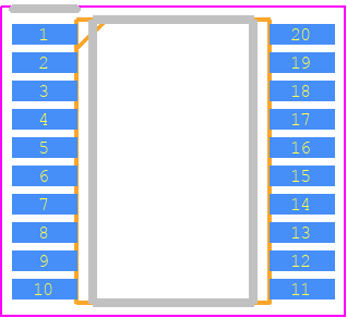STM32F042F6P6 - STMicroelectronics PCB footprint - Small Outline Packages - TSSOP20