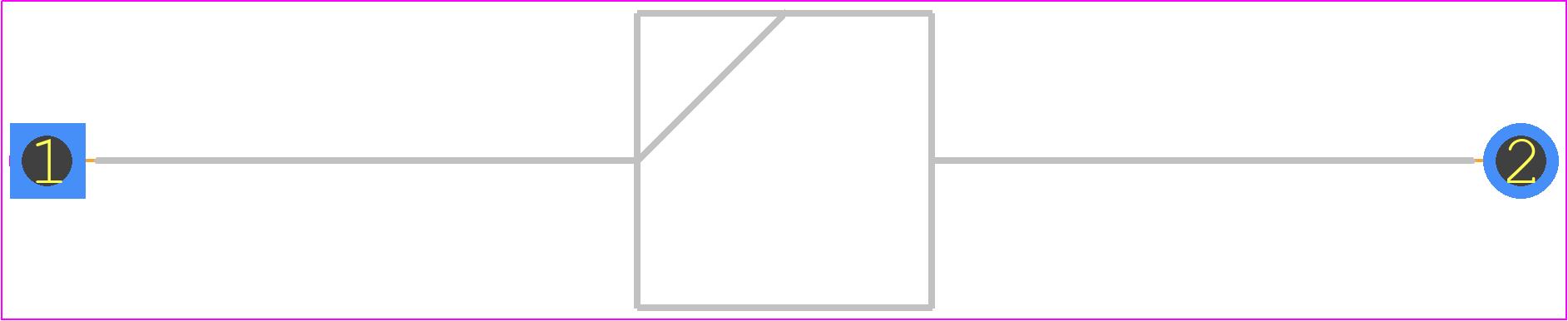 6A4-T - Diodes Inc. PCB footprint - Diodes, Axial Diameter Horizontal Mounting - R-6