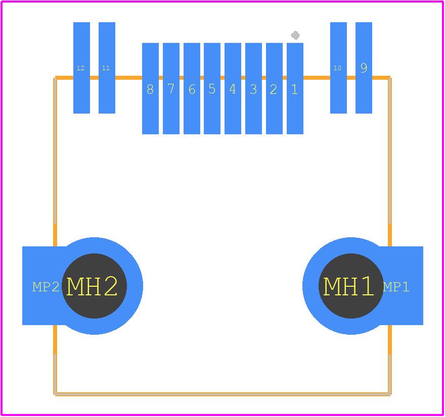 634008137521 - Würth Elektronik PCB footprint - Other - 634008137521
