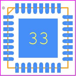 ATMEGA328P-MU - Microchip PCB footprint - Quad Flat No-Lead - MLF 32M1-A