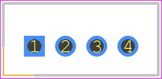 B4B-XH-A(LF)(SN) - JST (JAPAN SOLDERLESS TERMINALS) PCB footprint - Header, Shrouded - B4B-XH-A
